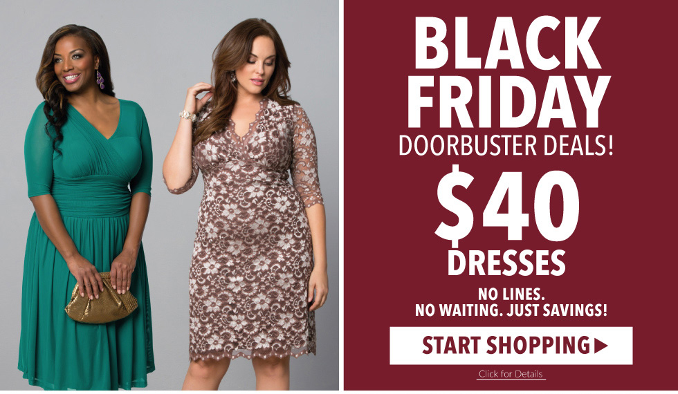 Black Friday | $40 Plus Size Dresses