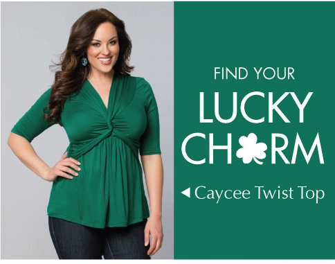 Cute Plus Size Top for St. Patricks Day in green
