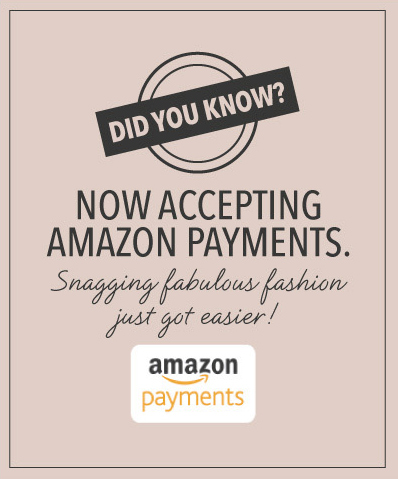 We are now accepting Amazon payments.