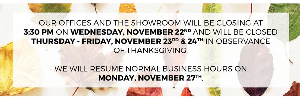 Kiyonna Holiday Hours | Thanksgiving 2017