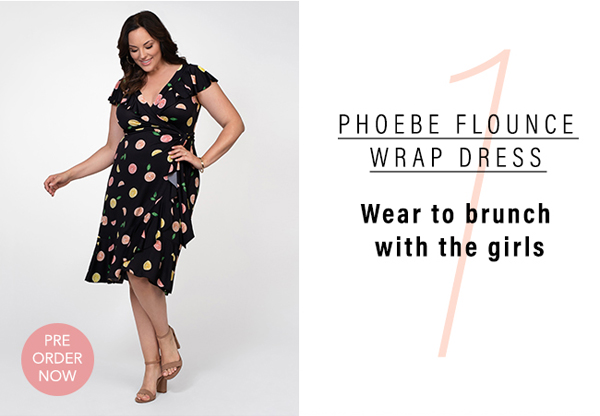 1. Phoebe Flounce Wrap Dress | Wear to brunch with the girls