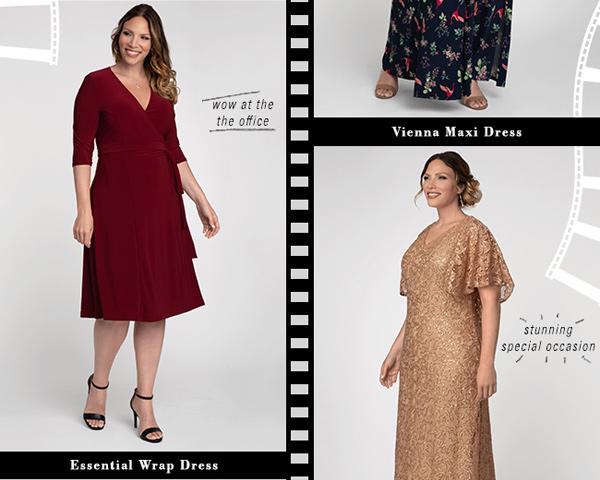 Vienna Maxi Dress   Essential Wrap Dress   Celestial Cape Sleeve Gown