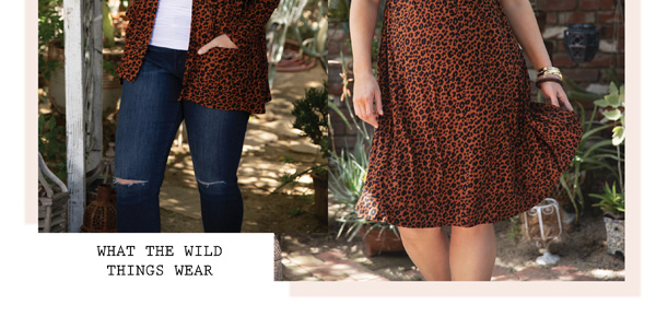 What the Wild Things Wear | Adriana Cardigan and Gabriella Dress in Copper Cat