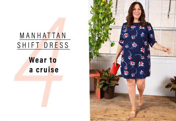 4. Manhattan Shift Dress | Wear to a cruise