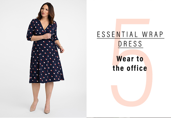 5. Essential Wrap Dress | Wear to the office