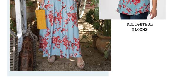 Delightful Blooms | Seaside Serenade Top in Cherry Blossom Print