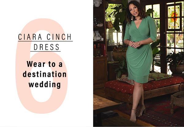 6. Ciara Cinch Dress | Wear to a destination wedding