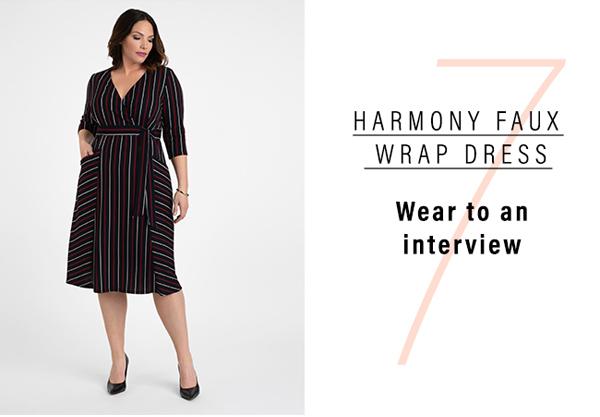7. Harmony Faux Wrap Dress | Wear to an interview