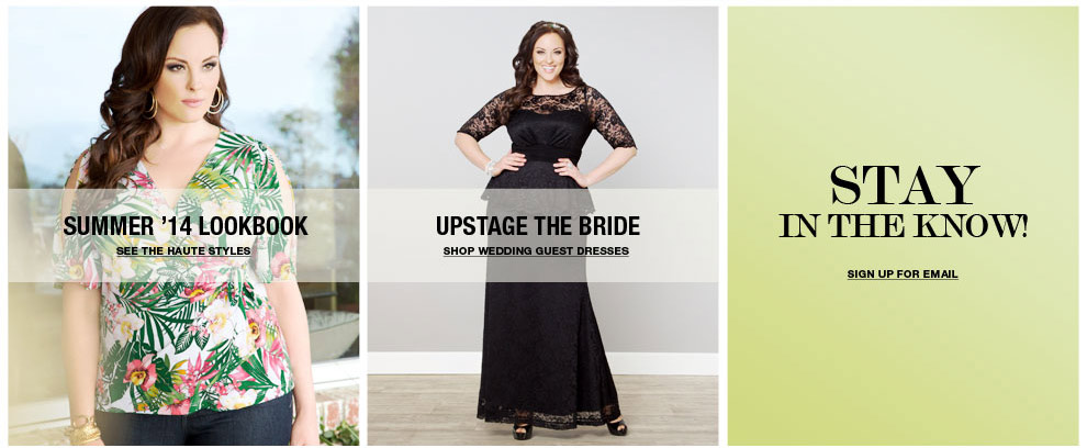 plus size clothing Summer 2014 Lookbook and Wedding Guest Dresses