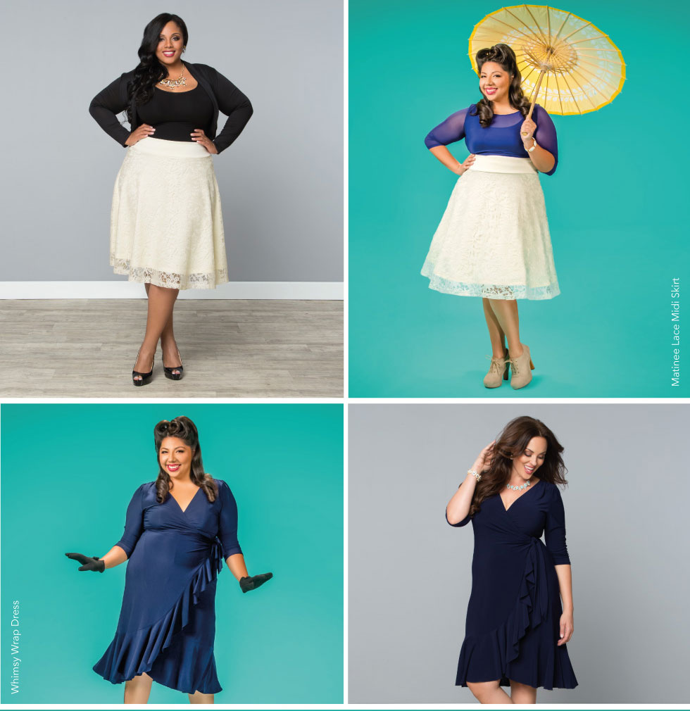 Plus Size Midi Length Skirts and Dresses