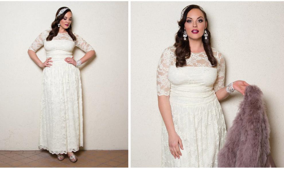 Plus Size Elegant Wedding Gown