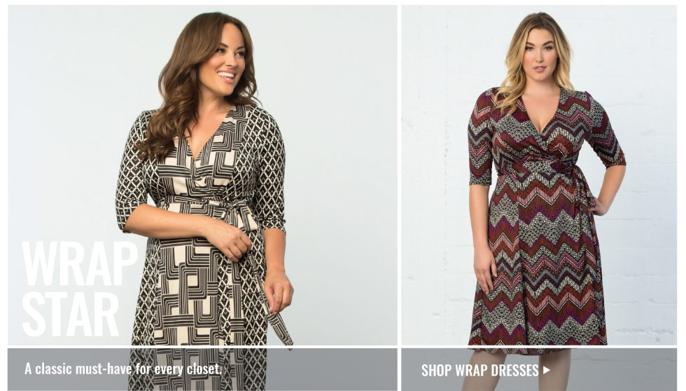 Plus size wrap dresses for work