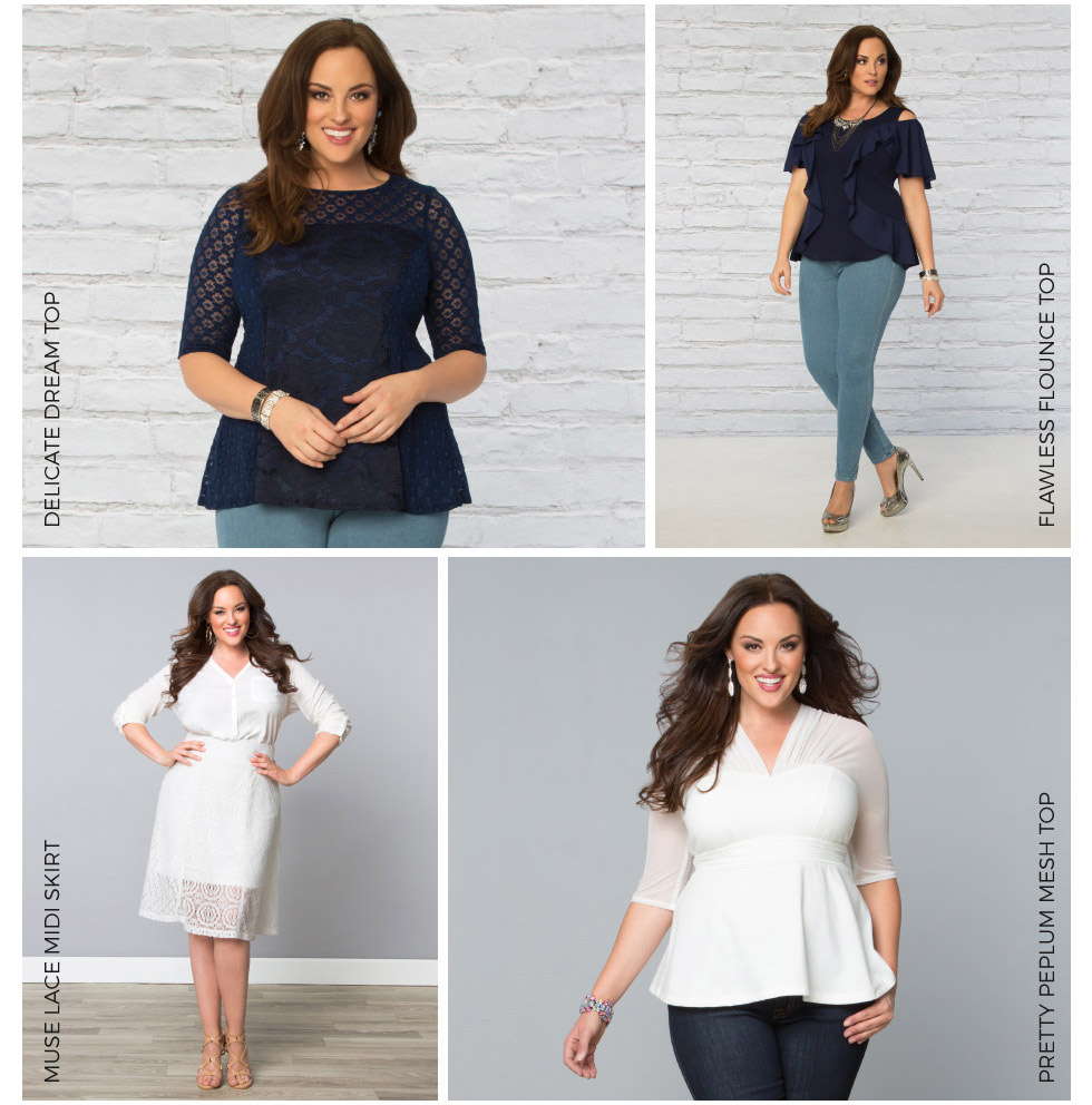 Plus Size Tops in red white and blue
