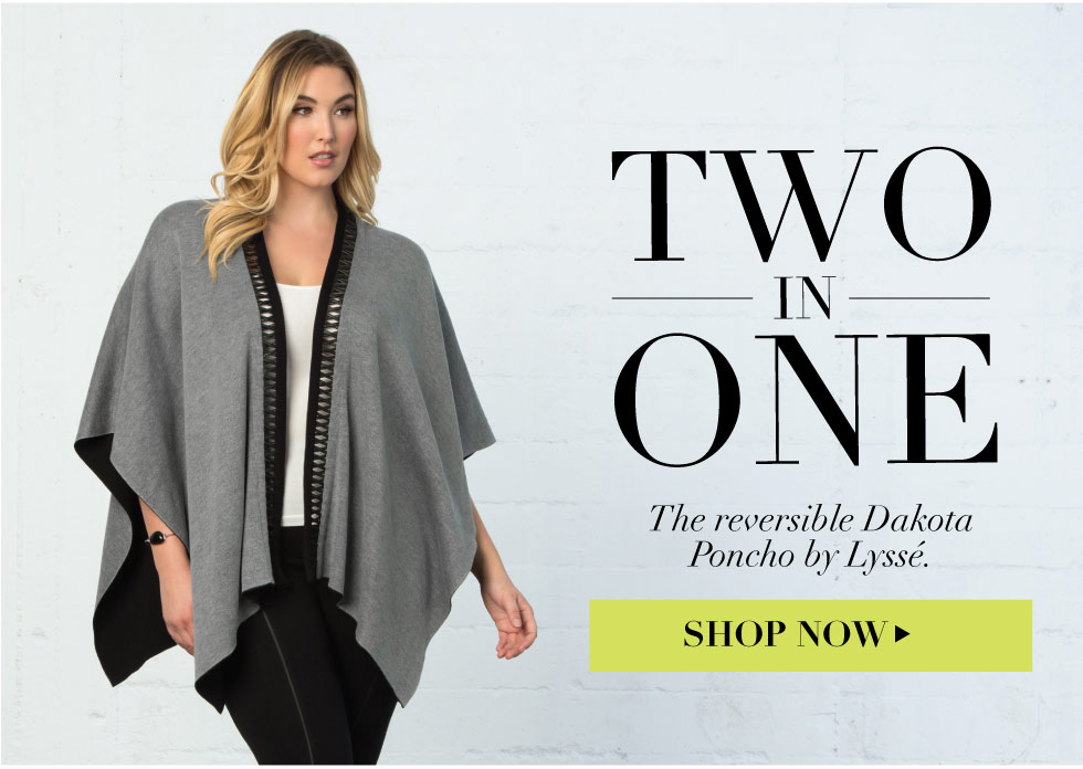 Trendy Plus size poncho for women