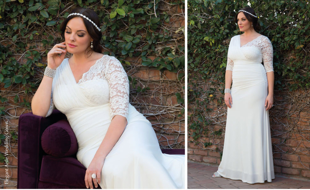 Unique Plus Size wedding gown | Elegant Aisle Wedding Gown
