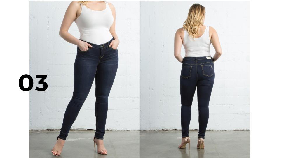 Plus size dark wash jeans