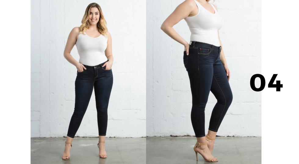 plus size ankle length jeans