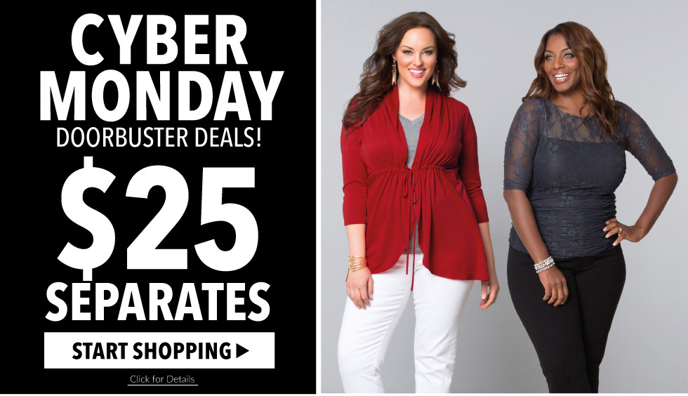 Cyber Monday Deals on Plus Size Clothing Kiyonna