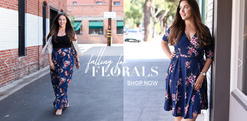 women's plus size dresses in floral prints