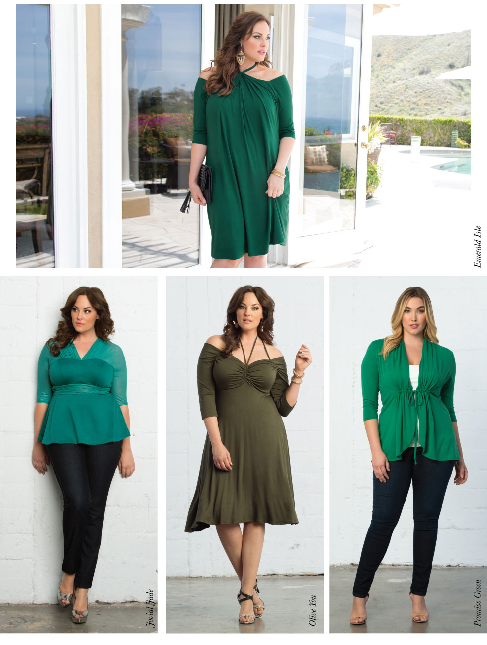 Plus Size Cocktail Dresses in Green