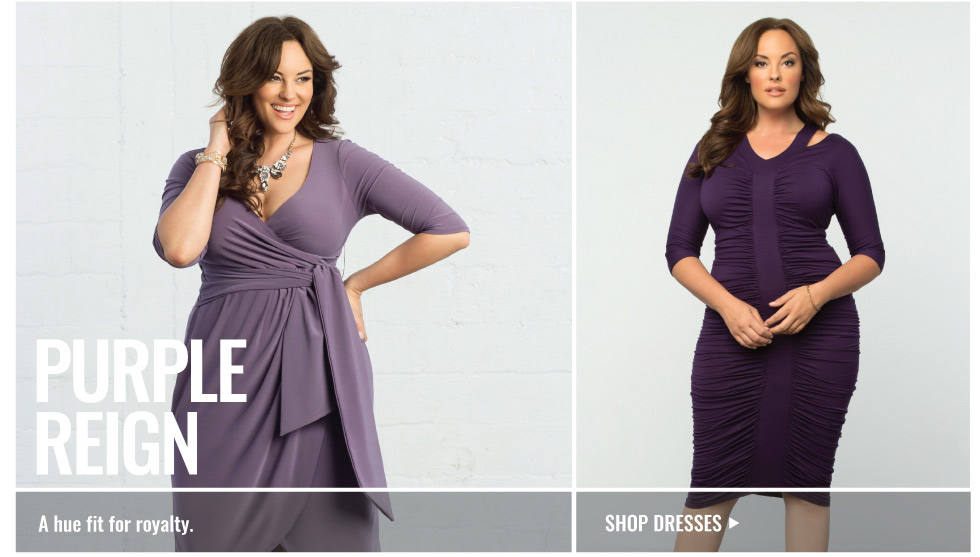 Plus Size Cocktail Dresses in Purple