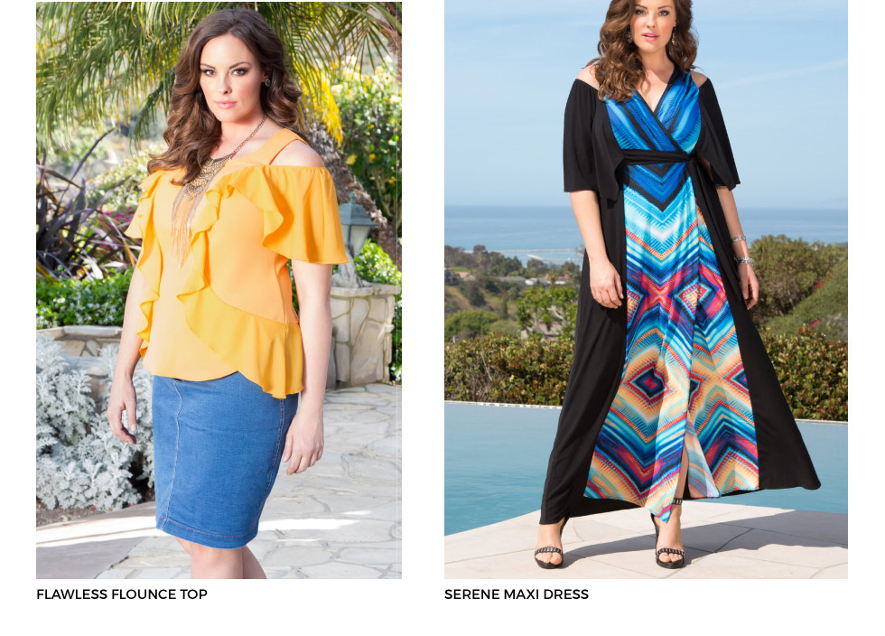 Plus size cold shoulder dresses and tops