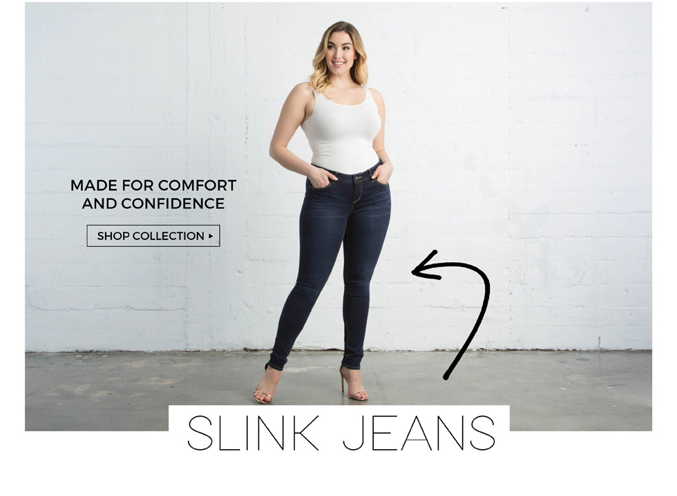 Plus size denim jeans by Slink Jeans