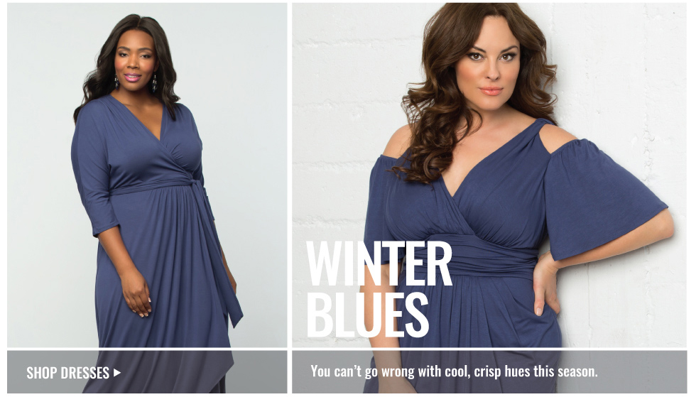 Plus Size Dresses in blue