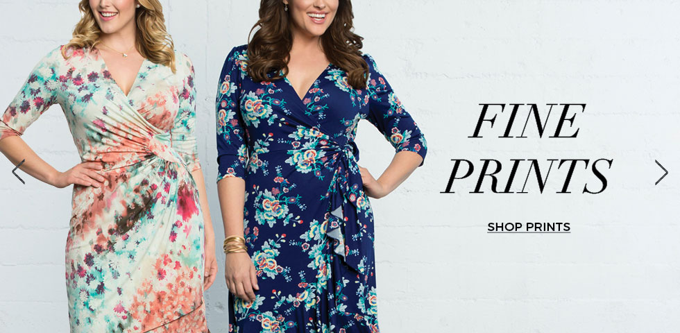 plus size dresses in prints