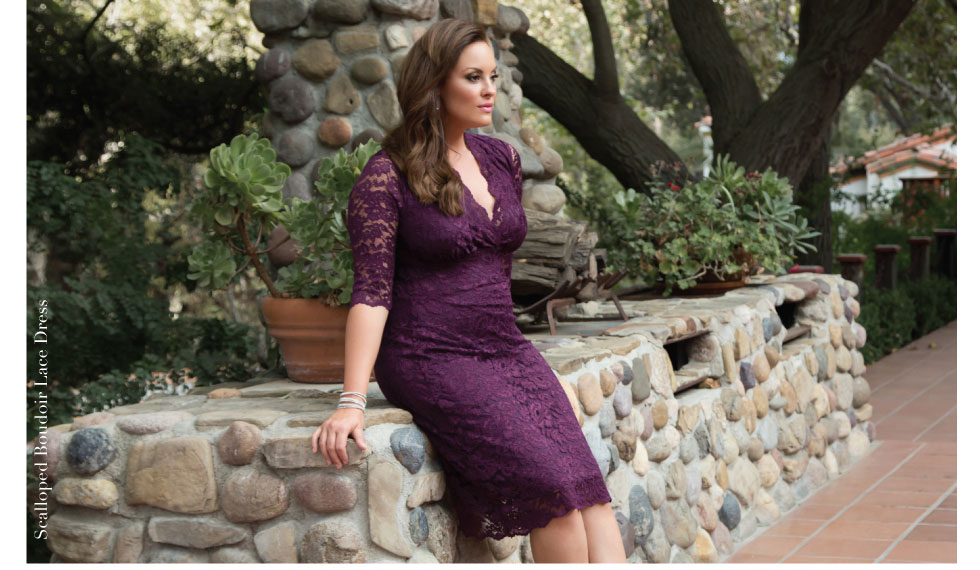 Plus size lace sheath dress