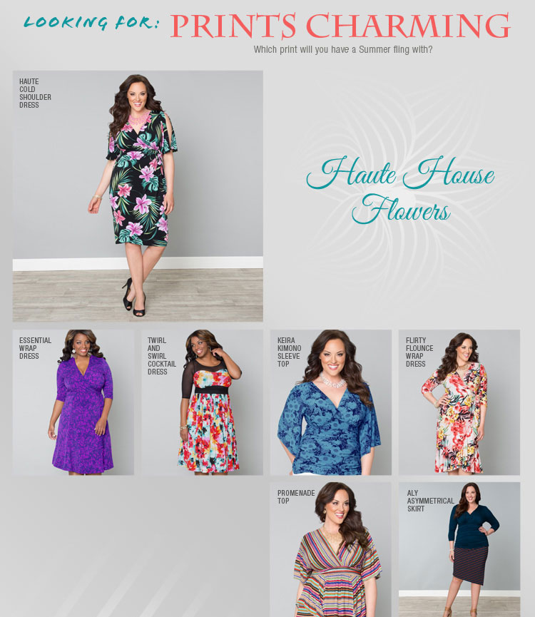Plus size printed dresses