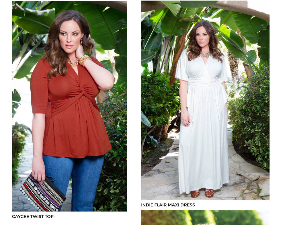 Trendy Plus Size Maxi Dresses and Tops