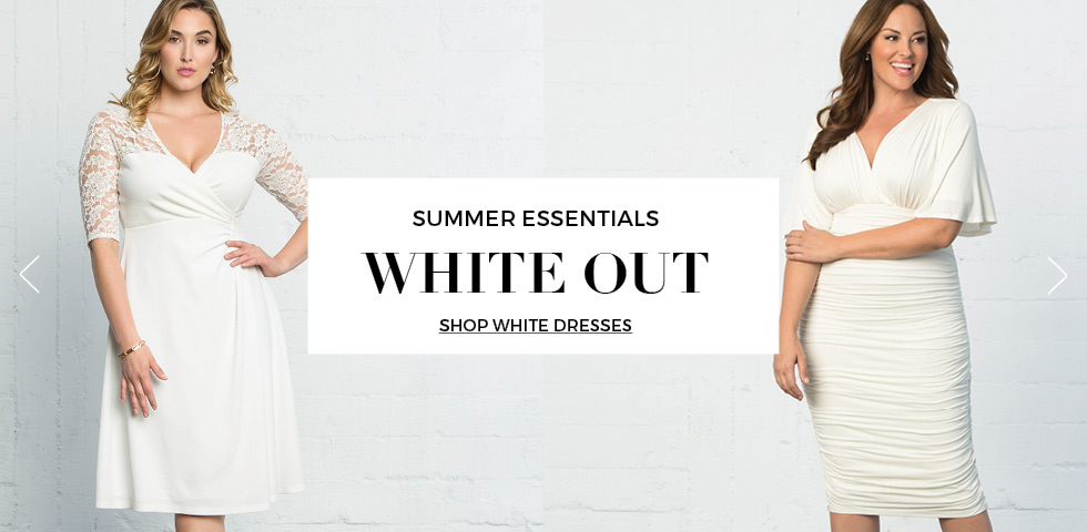 Plus size dresses in white