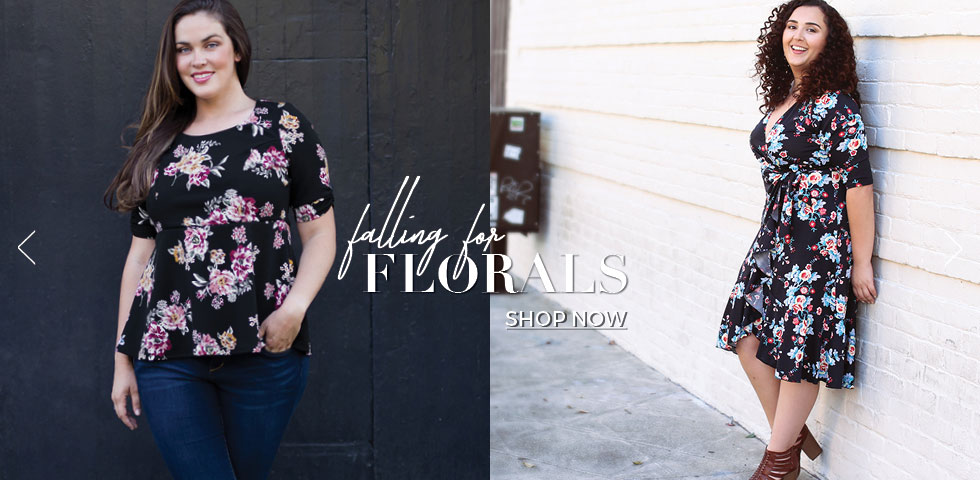 women's plus size dresses in floral prints