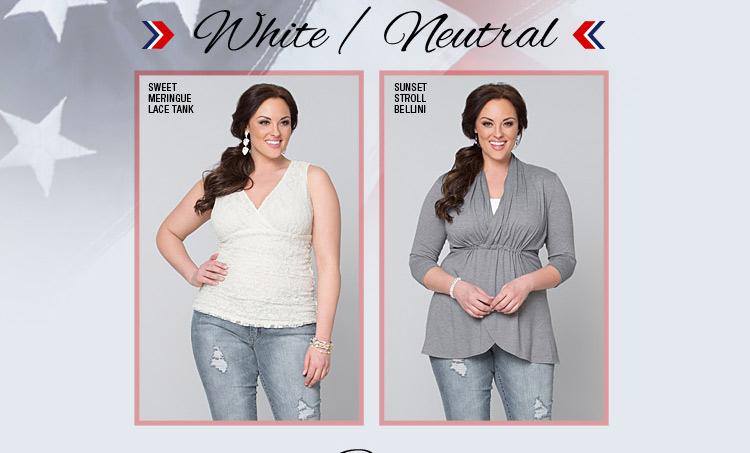 Plus Size White Tops