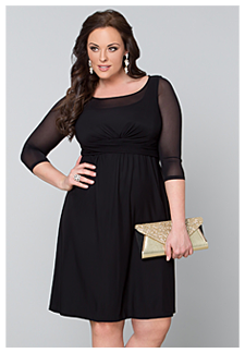 classy black wedding guest dresses | Kiyonna