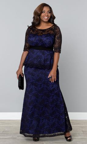 Astoria Lace Peplum Gown Rumor Ruched Dress Plus Size Wedding Guest Dresses Semiformal