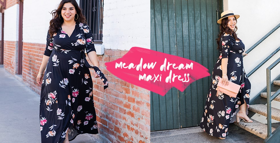 Model in Meadow Dream Maxi Dress