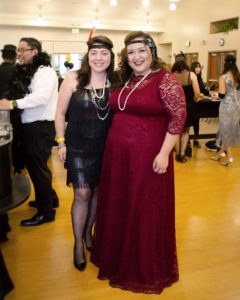 Eileen shows off the Leona lace gown 2x in action at her 1920s fundraiser event