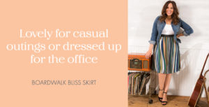 Model in Boardwalk Bliss Skirt