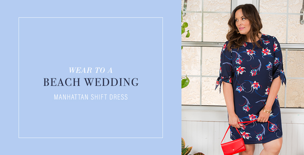 Dresses for summer weddings can be as casual as a shift dress.