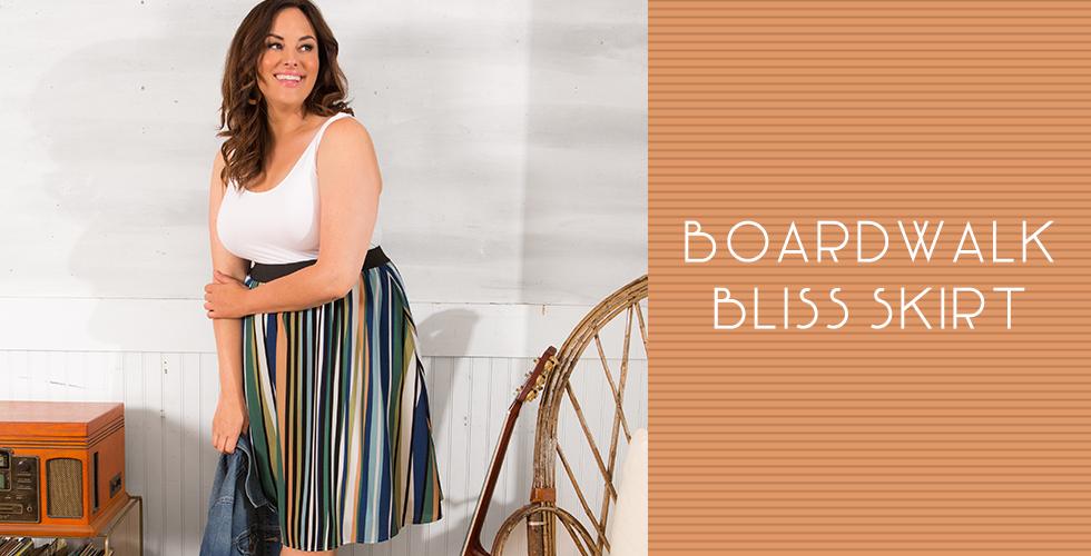 Model in our Boardwalk Bliss Skirt