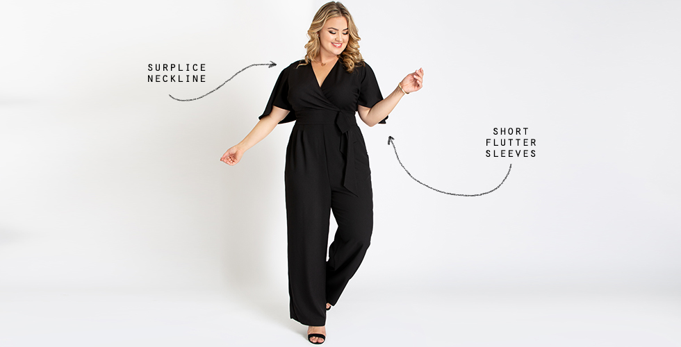 Plus size jumpsuits don't have to be complicated. Our Charisma Crepe Jumpsuit is just what you'll love when you want a one and done style.