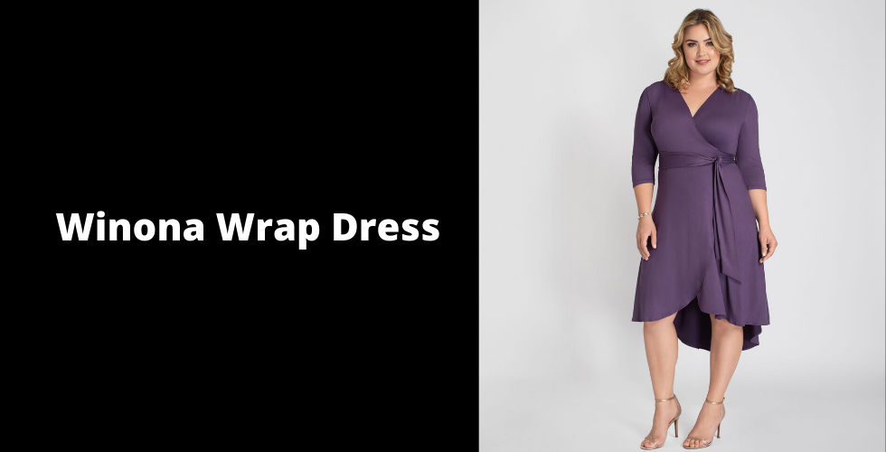 Plus Valentine's Day dresses can be simple, yet still sexy. Our Winona Wrap Dress can be worn season after season.