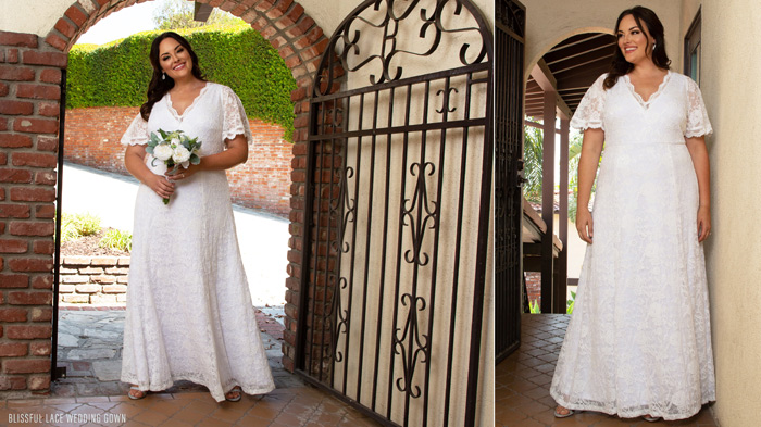 Blissful Lace Wedding Gown