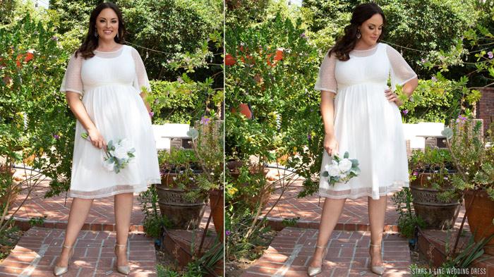 Stars A-Line Wedding Dress