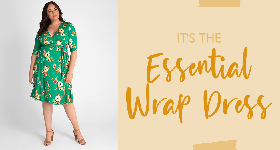 Plus Size Easter Outfits should include pretty wrap dresses you can wear again.