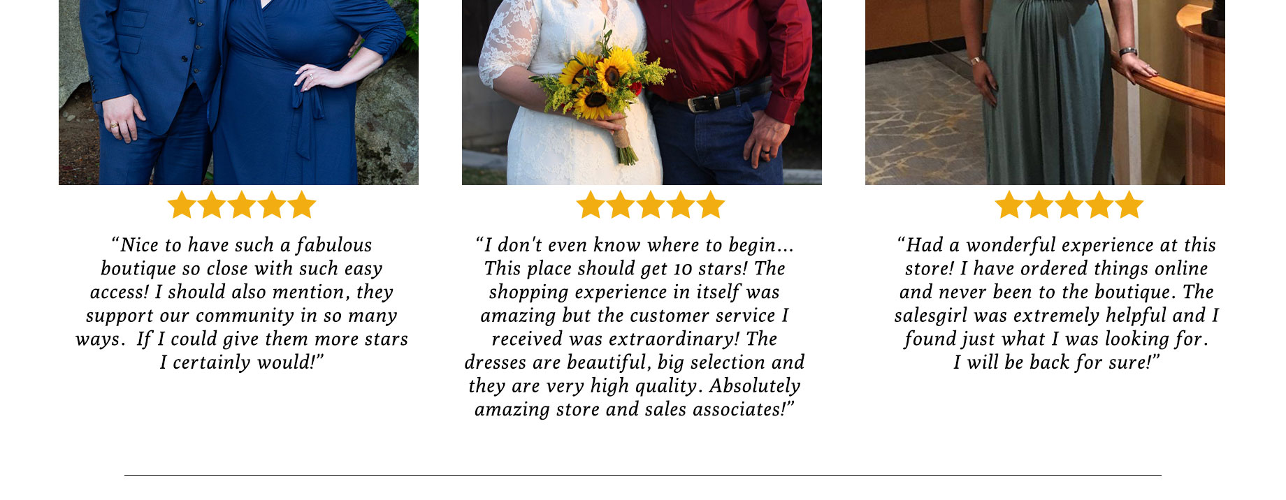 Customer Quotes and reviews