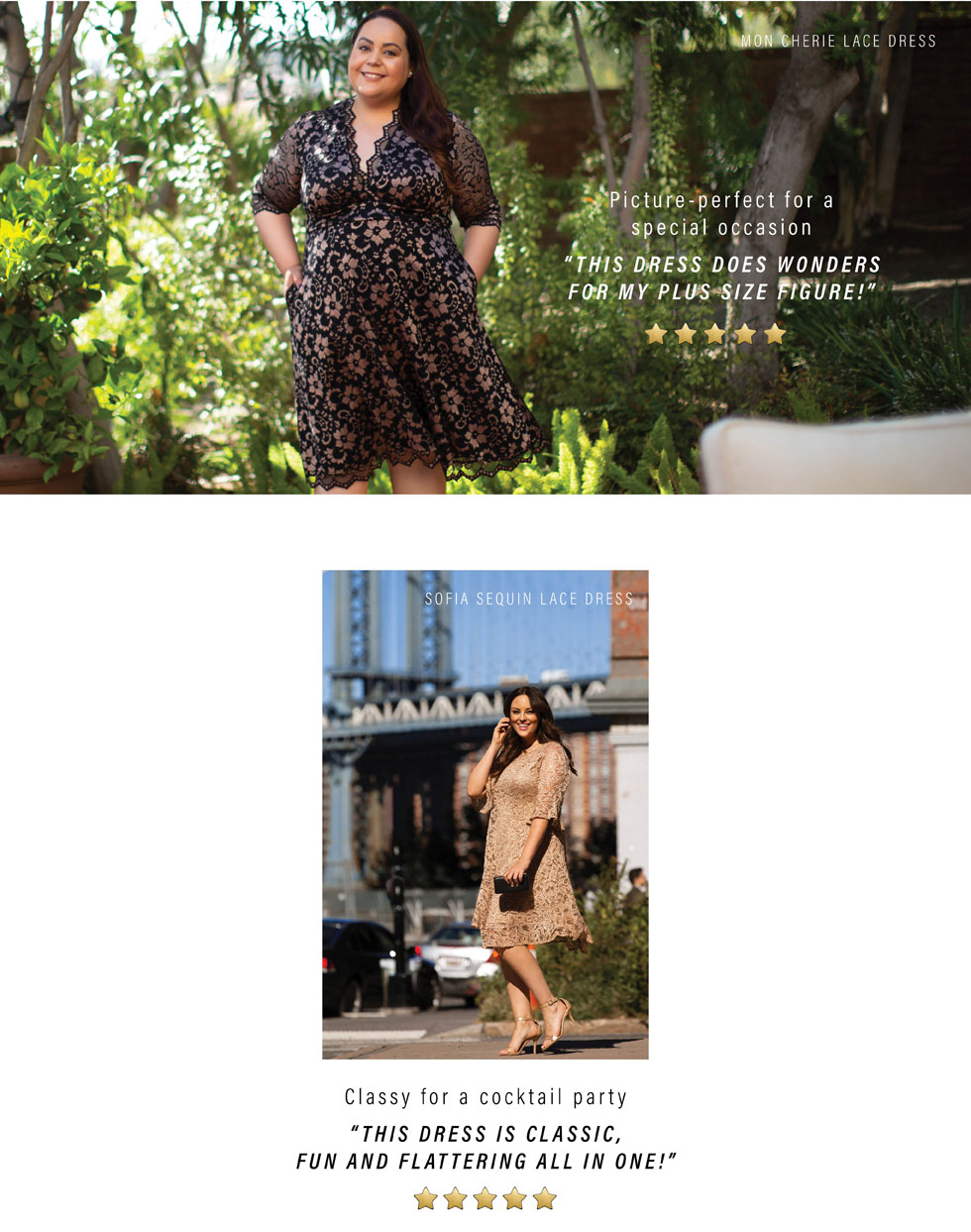 Plus size dresses in gold