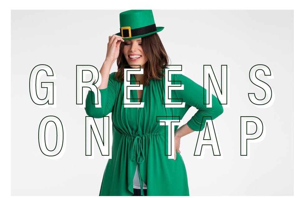 plus size styles in green